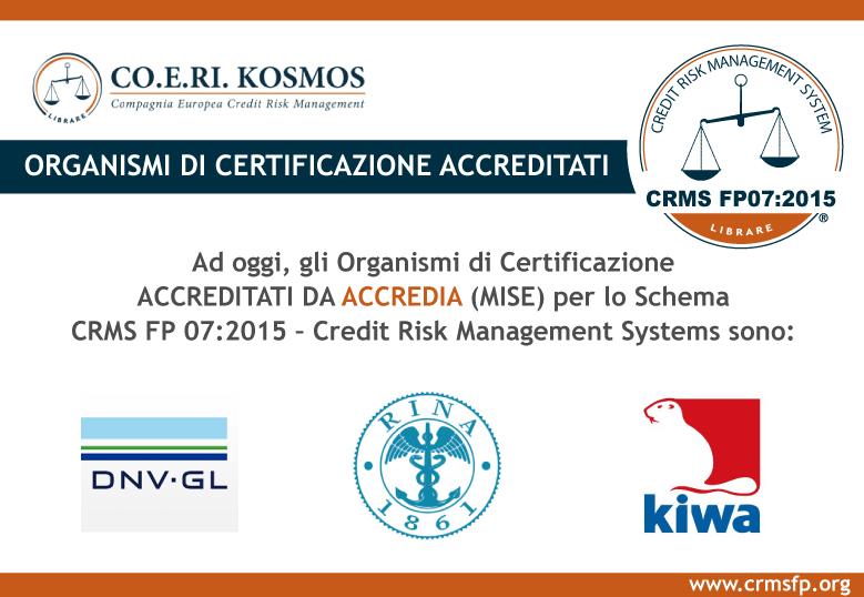 Organismi di Certificazione accreditati ACCREDIA per lo Schema CRMS FP 07:2015