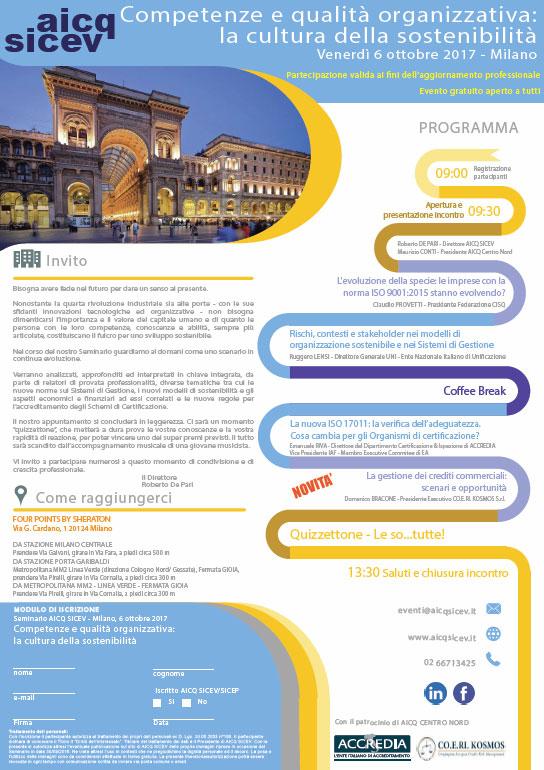 Seminario AICQ SICEV 2017 - Competenze e qualità prganizzativa: la cultura della sostenibilità