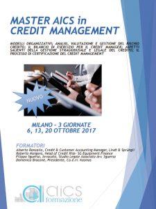 Master Credit Management Milano 2017