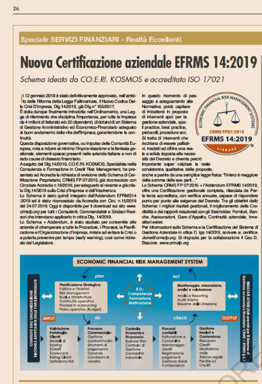 EFRM 14:2019 - SOLE 24 ORE - 25/09/19
